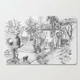 St Tropez house Cutting Board