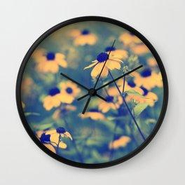 Golden daisies. Wall Clock