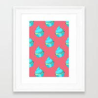 cupcake Framed Art Prints featuring Cupcake by tiffato3