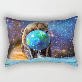 Give Planet Earth A Bear Hug! Rectangular Pillow