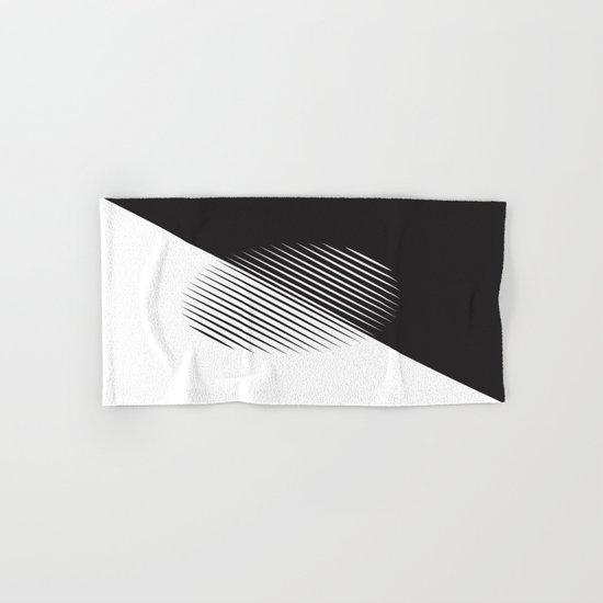 Black And White Ball Of Stripes Hand & Bath Towel
