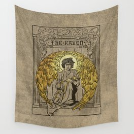 The Raven. 1884 edition cover Wall Tapestry