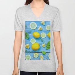 Fruits and leaves pattern (24) Unisex V-Neck