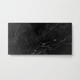 Black abstract natural marble pattern - beautiful home decor Metal Print