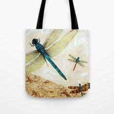 Zen Flight - Dragonfly Art By Sharon Cummings Tote Bag