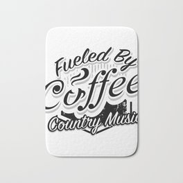 Coffee And Country Music Funny Musicians Gifts Bath Mat