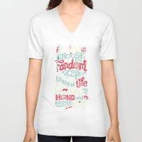fandom V-neck T-shirts featuring Fandom Life by Risa Rodil