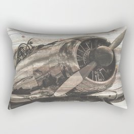 Old airplane 1 Rectangular Pillow