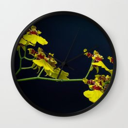 Dancing Lady Yellow Orchids Wall Clock