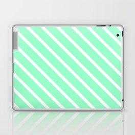 Mint Julep #2 Diagonal Stripes Laptop & iPad Skin