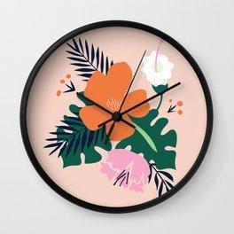 Light Spring Flowers Wall Clock