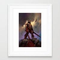 conan Framed Art Prints featuring Conan the Barbarian by Eric Lofgren