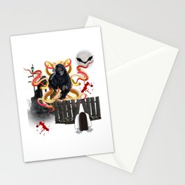 Black Horror Stationery Cards