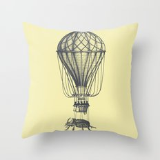 Discovery (grey on yellow) Throw Pillow