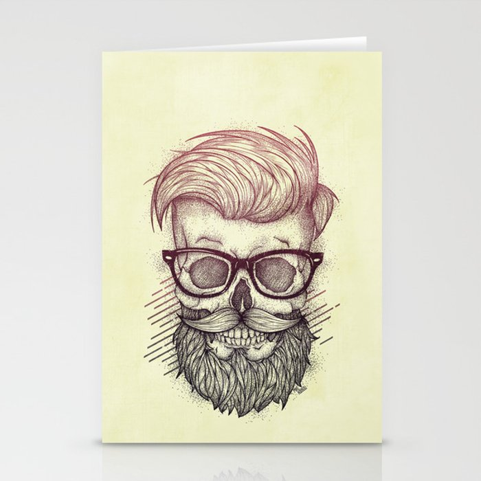 Hipster is Dead Stationery Cards