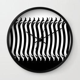 Negative Space Serpents Wall Clock