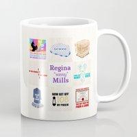 "regina mills Mugs featuring Regina ""Sassy"" Mills by CLM Design"