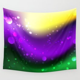 Abstract Mardi Gras Background Wall Tapestry
