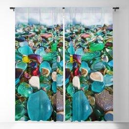 Kauai's Glass Beach, Hawaiian Portrait Blackout Curtain