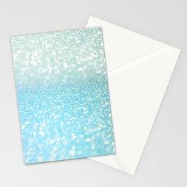 Mermaid Sea Foam Ocean Ombre Glitter Stationery Cards