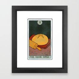 The Rising Dough | Baker's Tarot Framed Art Print