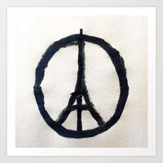 Peace for Paris Art Print