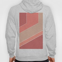Terracotta , beige , abstract Hoody