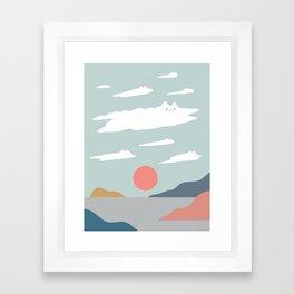 Cat Landscape 23 Framed Art Print