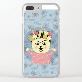 Peanut Dog_Frida Clear iPhone Case