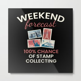 Chance Of Stamp Collecting Metal Print