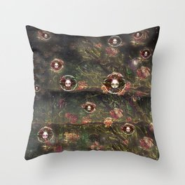 The Beasts of Briar Rose Forest Throw Pillow