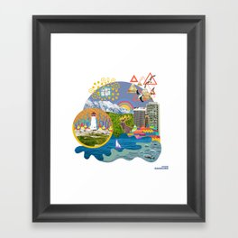 my neck of the woods Framed Art Print