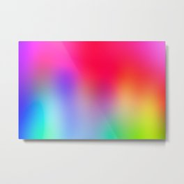 Fluorescent Neon Colors Metal Print