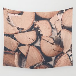 Wood Pile Wall Tapestry