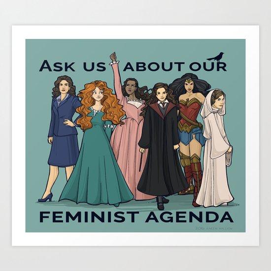 Feminist Agenda Wall Art | Feminist Gift Guide