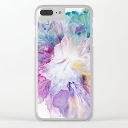 Blooming Iris flower Clear iPhone Case