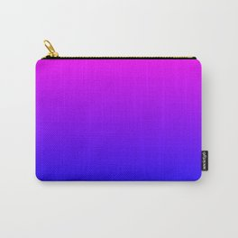 Fuchsia/Violet/Blue Ombre Carry-All Pouch
