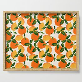 Oranges and Lemons Serving Tray