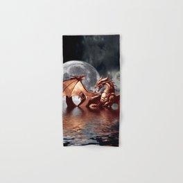 Mystical Dragon and Moon Fantasy Design Hand & Bath Towel