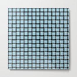 Small Light Blue Weave Metal Print