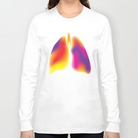 lungs Long Sleeve T-shirts featuring Lungs by Kexit guys