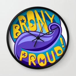Brony Proud - Blue Wall Clock