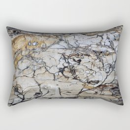 Natural Distressed Beach Drift Wood Textures Rectangular Pillow