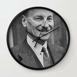 painting of Clement Attlee Wall Clock