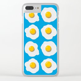 Fried Egg Clouds Clear iPhone Case