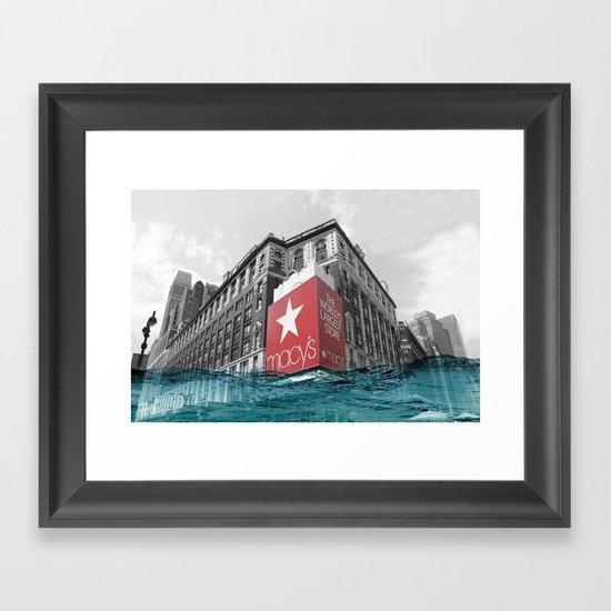 Macy's water line Framed Art Print