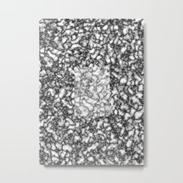 Black and white marble texture 7 Metal Print