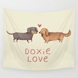 Doxie Love Wall Tapestry