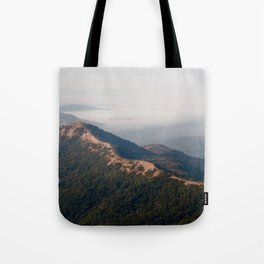 misty mountains Tote Bag