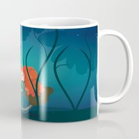 brave Mugs featuring Brave by Maria Jose Da Luz